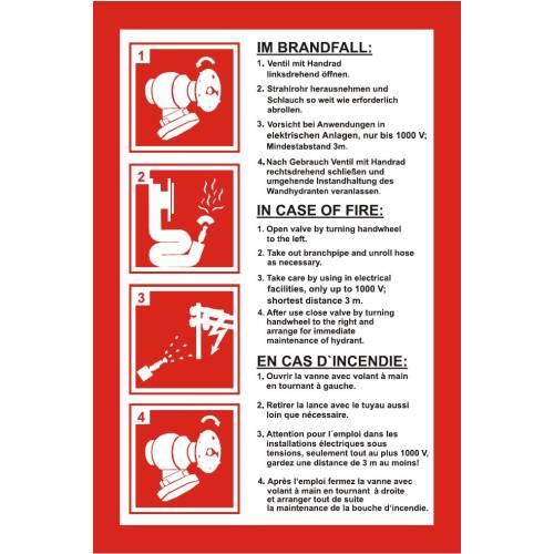 Brandschutzzeichen-Anleitung Nasslöschposten Folie