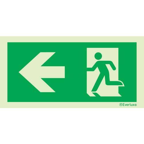 Rettungszeichen nach links