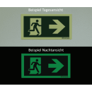 Rettungszeichen Richtungspfeil abwärts/aufwärts