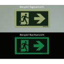 Rettungszeichen linksweisend